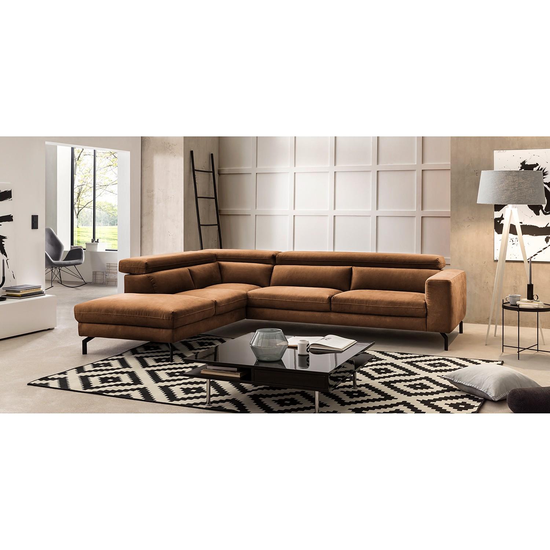 home24 Fredriks Ecksofa Brodi Latte Macchiato Microfaser 305x76x233 cm
