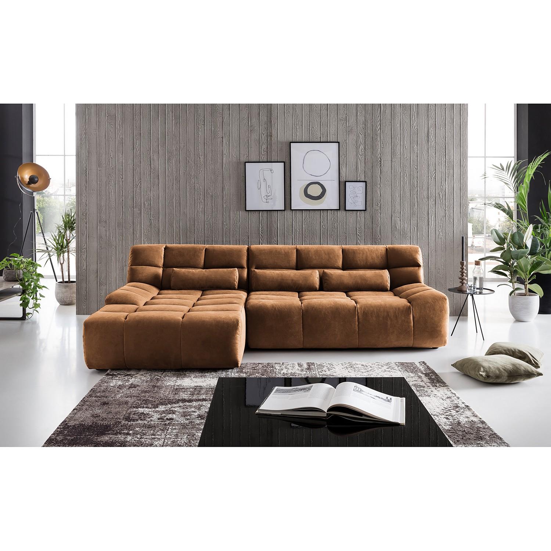 home24 loftscape Ecksofa Hanko Latte Macchiato Microfaser 273x80x177 cm