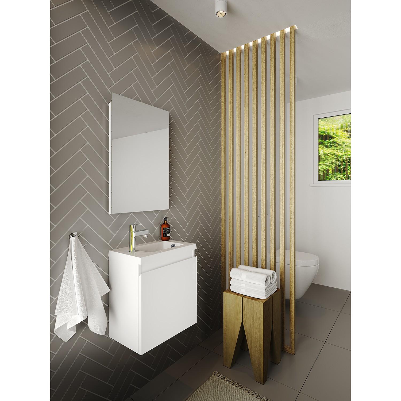 Allibert Fonteinset Porto Pack 40 Inclusief Spiegel Soft Close 40x51x25 cm Glanzend Wit online kopen