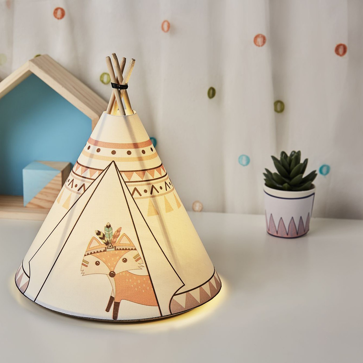 home24 LED-Tischleuchte Twinkle Tipi II