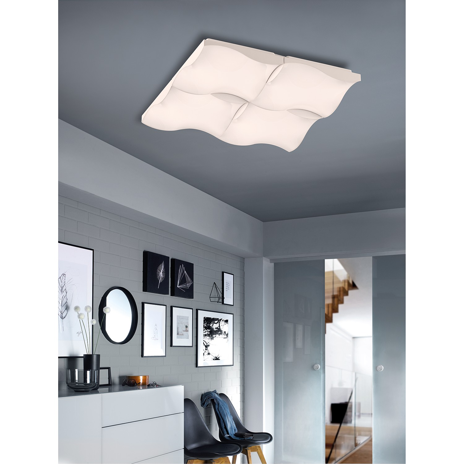 home24 LED-Deckenleuchte Formby