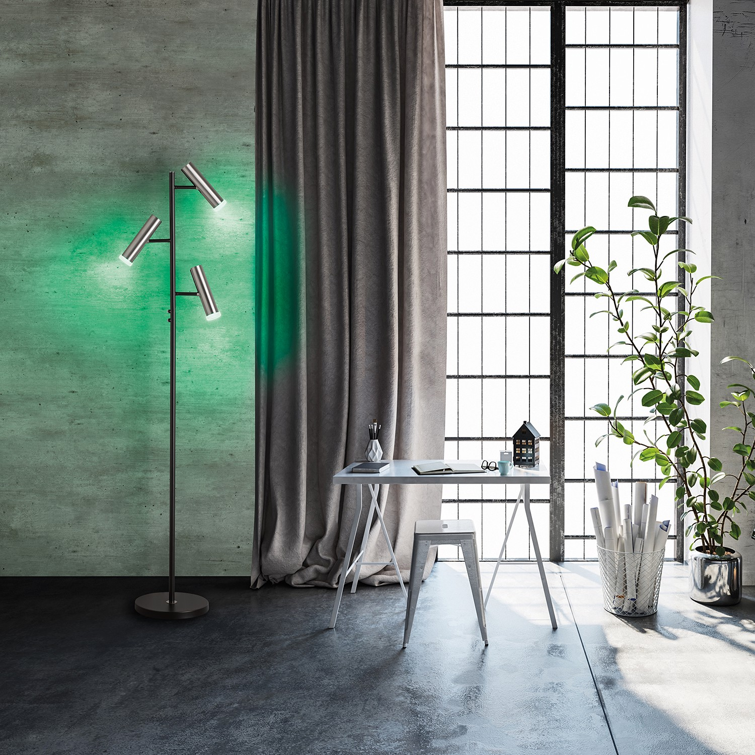 home24 LED-Stehleuchte Plover