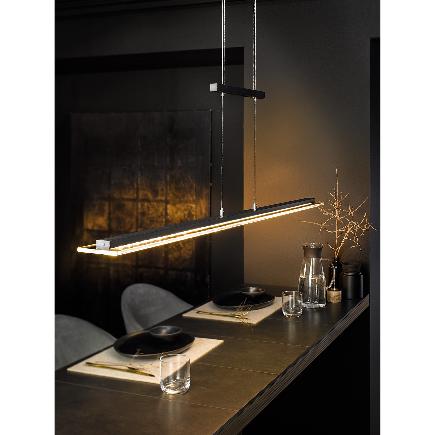 home24 LED-Pendelleuchte Skokie IV