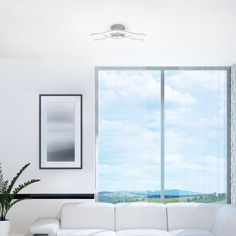 home24 LED-Deckenleuchte Leandros