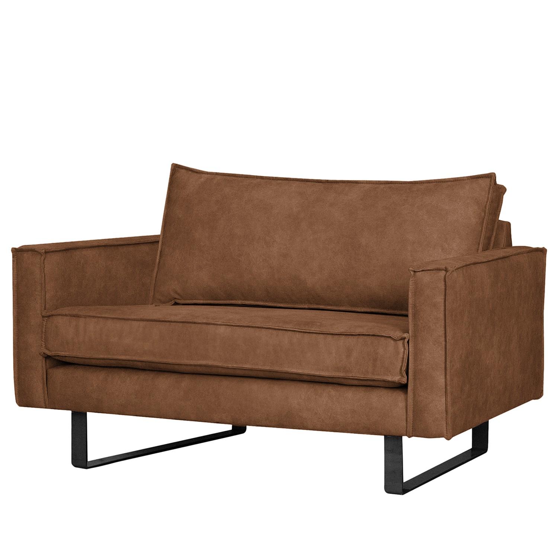 home24 ars manufacti Sessel Liel I Cognac Microfaser 100x84x94 cm (BxHxT)
