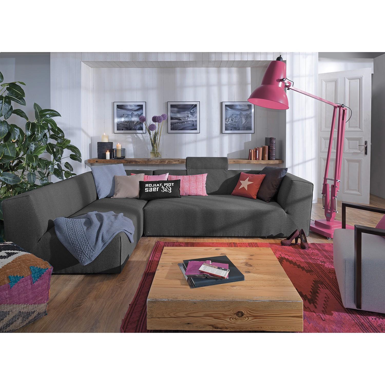 home24 Tom Tailor Recamiere Elements Anthrazit 100% Polyester 190x99 cm (Bx günstig online kaufen