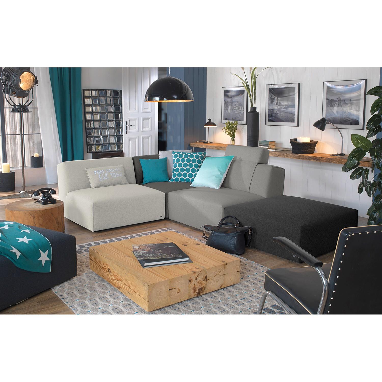 home24 Tom Tailor Ecksofa Elements I Grau 100% Polyester 287x70x193 cm (BxHxT) Modern