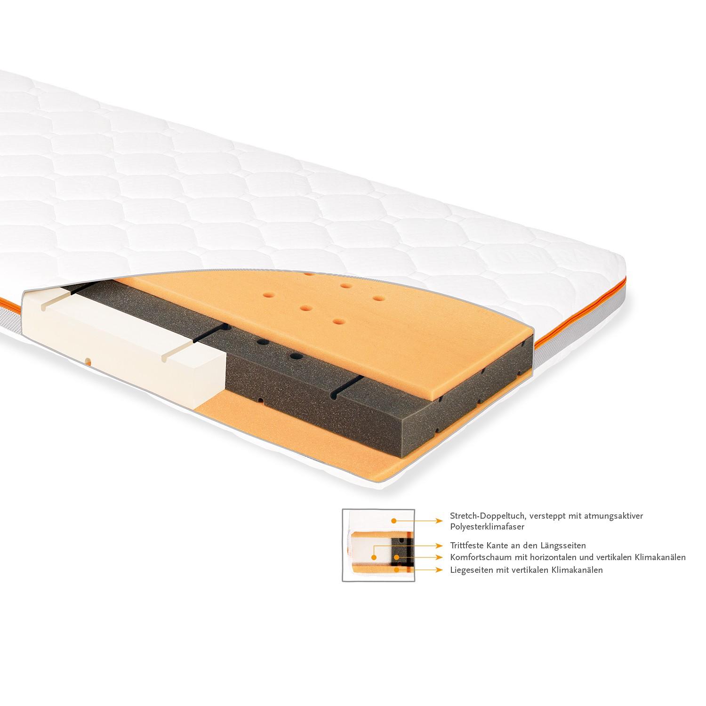 home24 Pinolino Matratze Luna Air Weiß PU-Komfortschaum 70x140 cm Modern Matratze