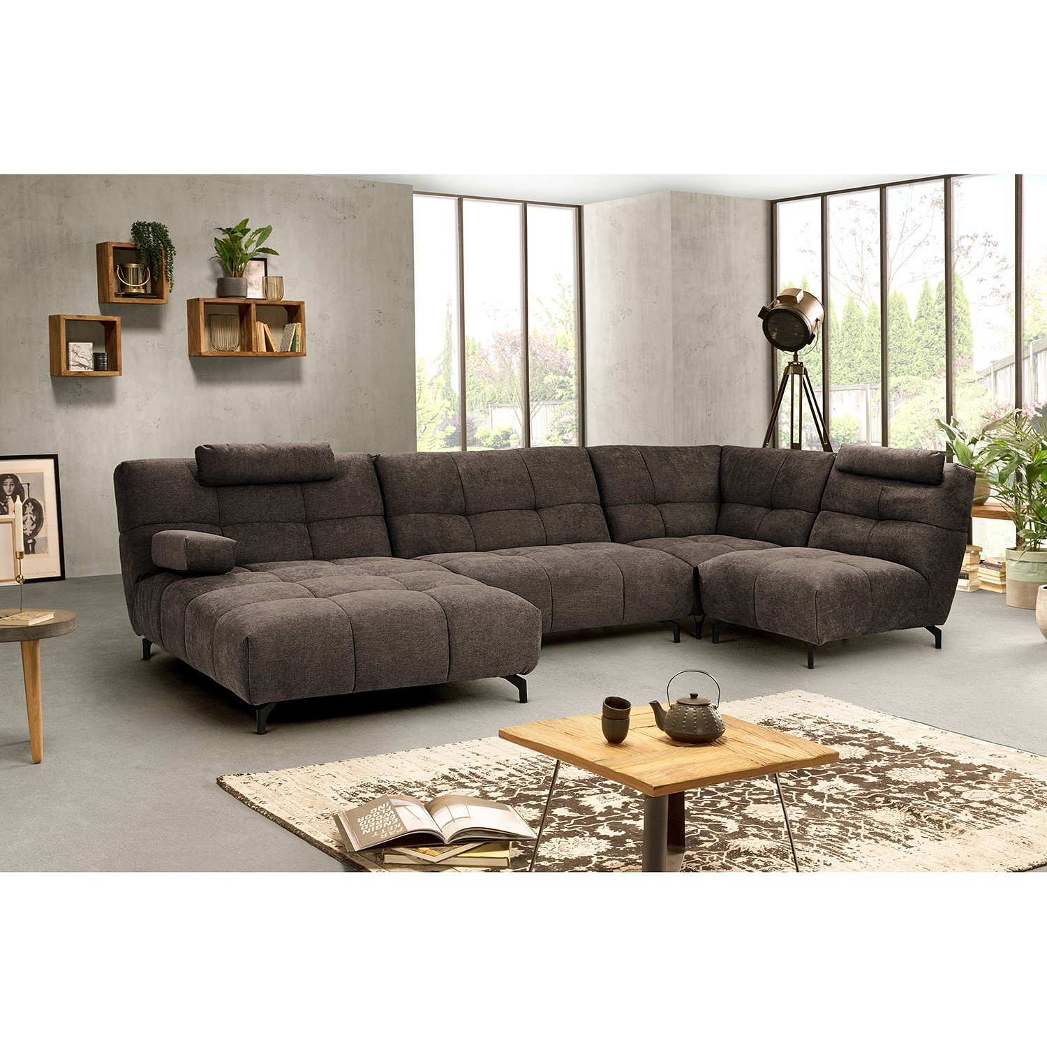 home24 Fredriks Sessel Bellmore Taupe Microfaser 80x88x105 cm