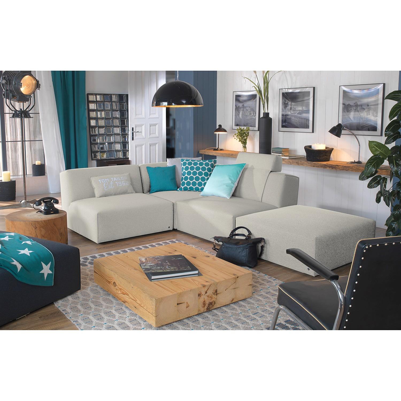 home24 Tom Tailor Ecksofa Elements IX Hellbeige 100% Polyester 287x70x193 cm (BxHxT) Modern