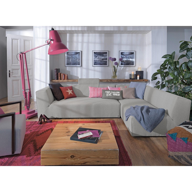 home24 Tom Tailor Ecksofa Elements VI Granit 100% Polyester 190x190 cm (TxH) Modern