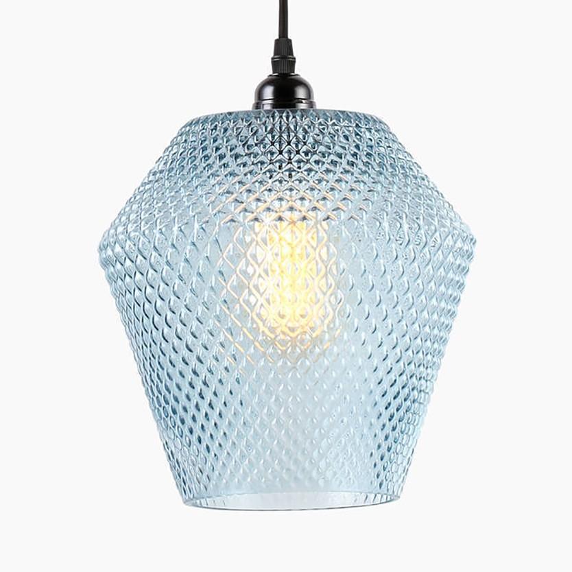 Pendelleuchte Nomi Kaufen - Glas / Eisen 1-flammig Blau