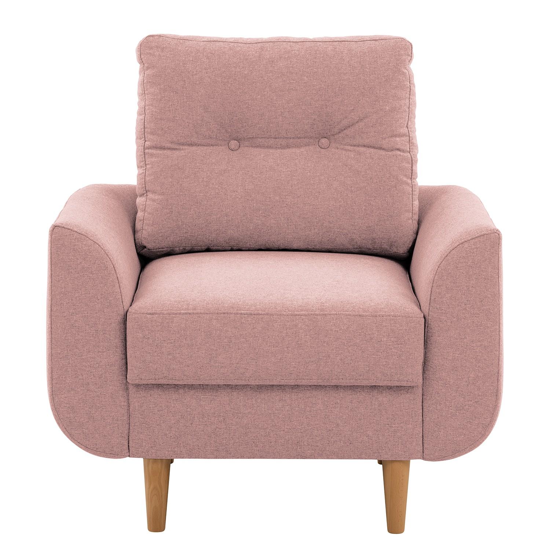 home24 Norrwood Sessel Kaavi I Rosé Webstoff 90x80x92 cm (BxHxT)