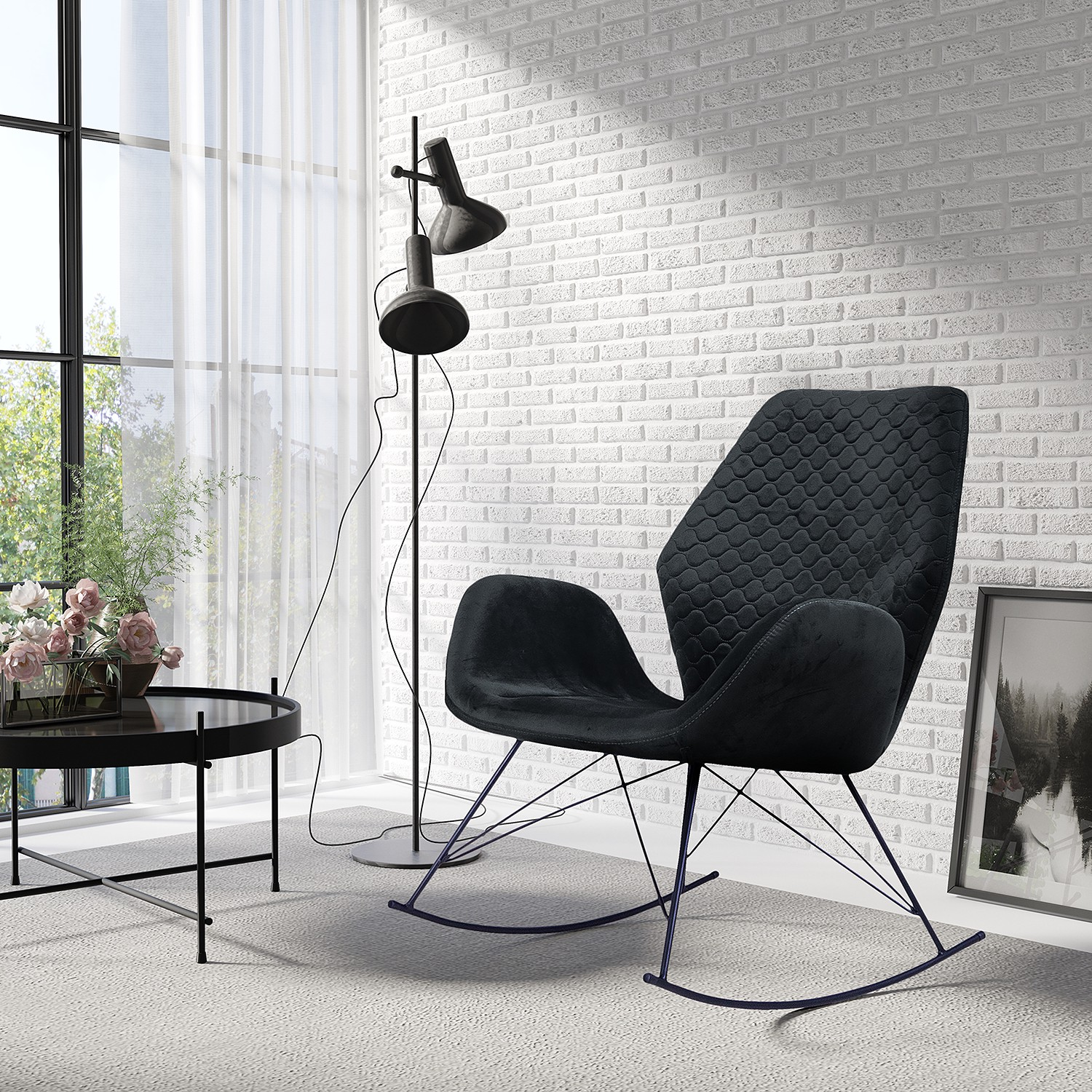 Home24 Schommelfauteuil Bluemont I, home24