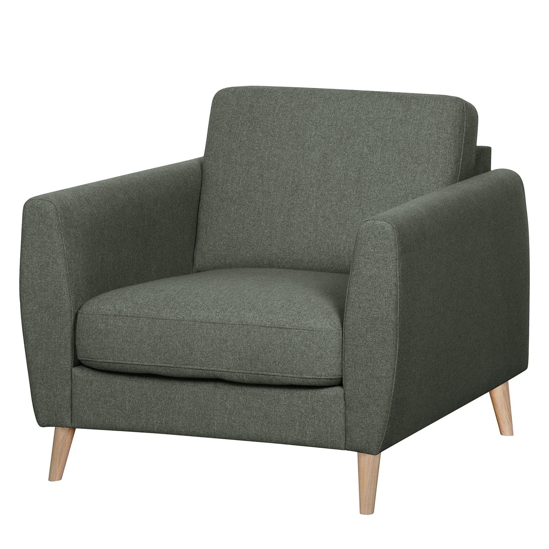 home24 Mørteens Sessel Kustavi Grau Polyester 90x80x90 cm (BxHxT)