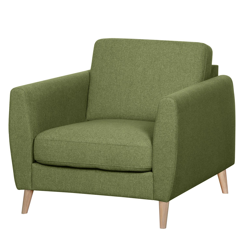 home24 Mørteens Sessel Kustavi Olivgrün Polyester 90x80x90 cm (BxHxT)