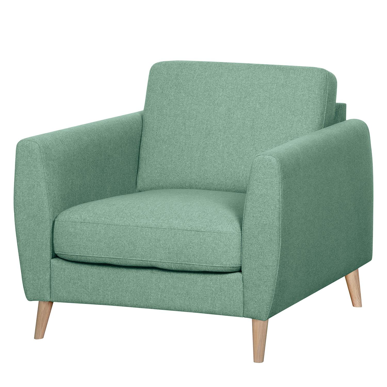 home24 Mørteens Sessel Kustavi Mintgrün Polyester 90x80x90 cm (BxHxT)