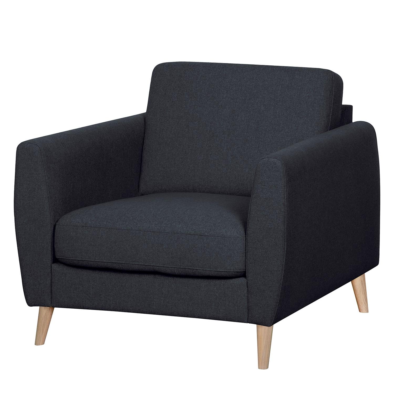 home24 Mørteens Sessel Kustavi Dunkelblau Polyester 90x80x90 cm (BxHxT)