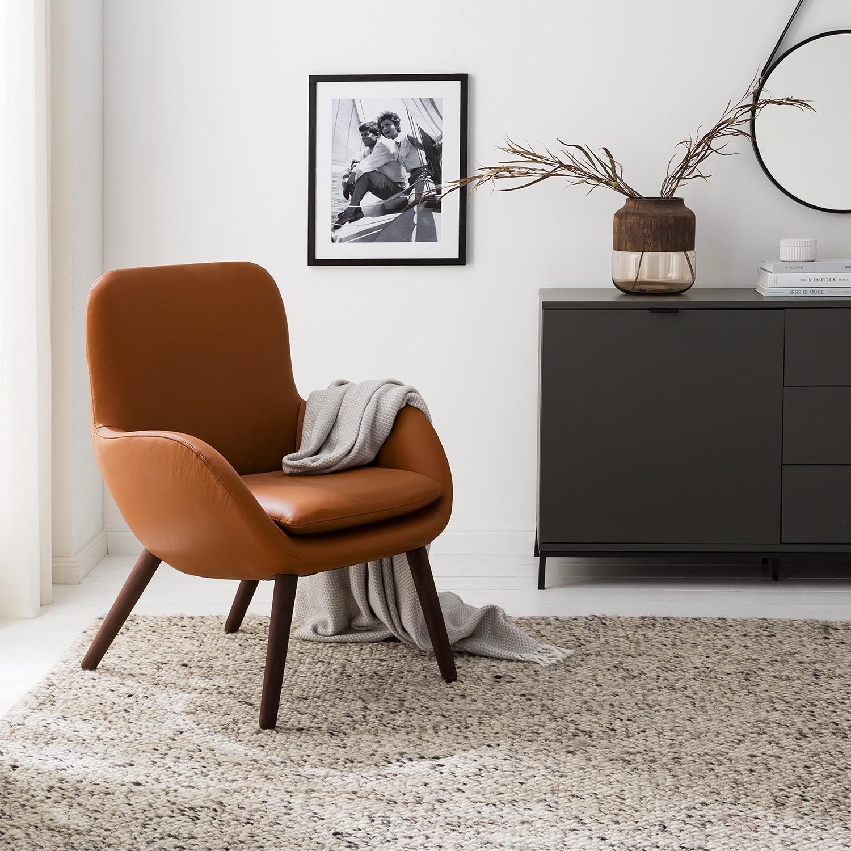 home24 Mørteens Sessel Ullava I Cognac Echtleder 67x83x74 cm (BxHxT)