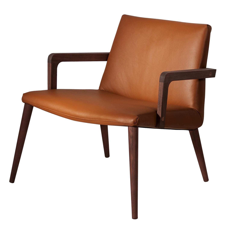 home24 Mørteens Sessel Sonka III Cognac Echtleder 68x73x73 cm (BxHxT)