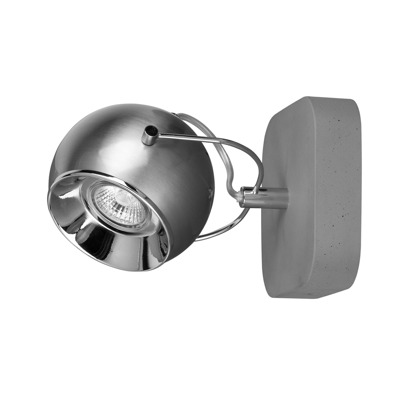 home24 LED-Deckenleuchte Ball Concrete