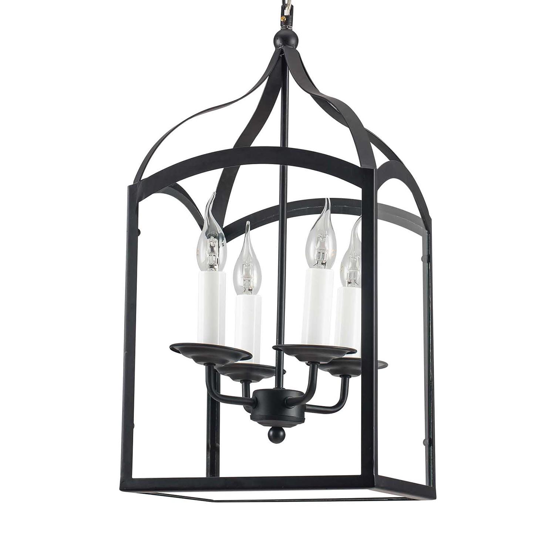 home24 LED-Pendelleuchte Cage II