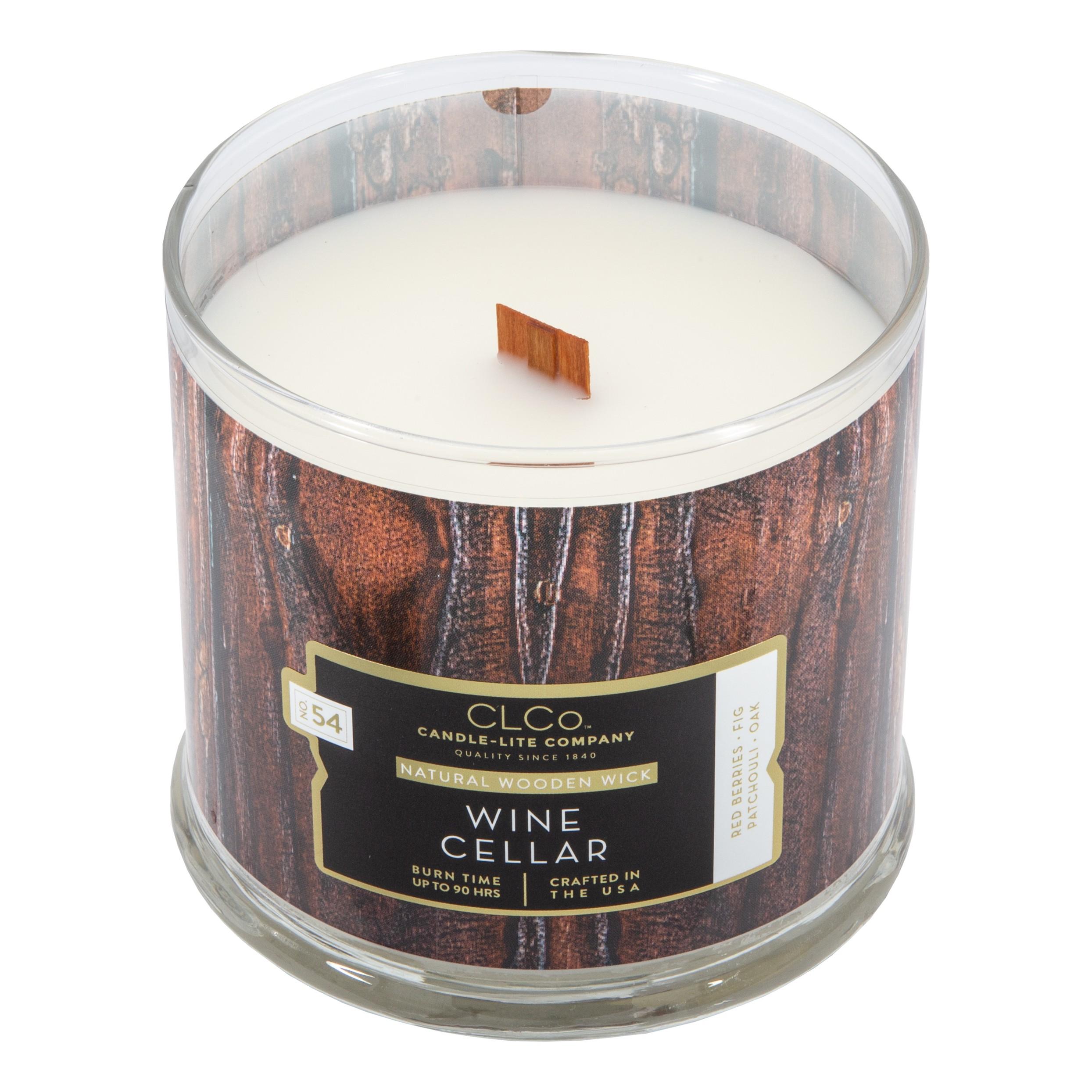 Duftkerze mit Holzdocht Wine Cellar, Candle-Lite Company