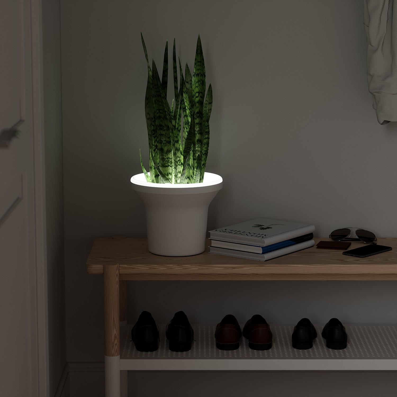 LED-Pflanztopf Ora, Umbra