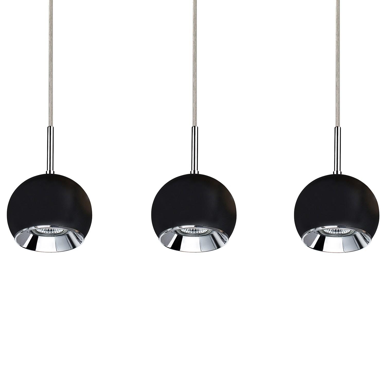 home24 LED-Pendelleuchte Ball Wood VIII