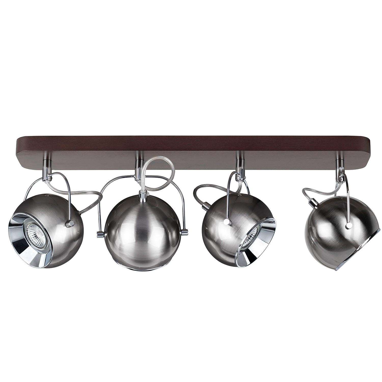 home24 LED-Deckenleuchte Ball Wood III