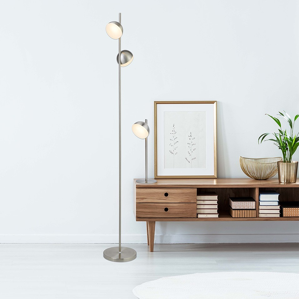 home24 LED-Stehleuchte Tully