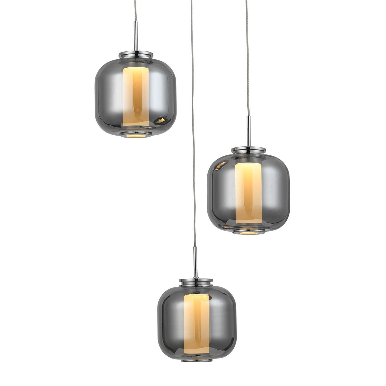 home24 LED-Pendelleuchte Rafa II