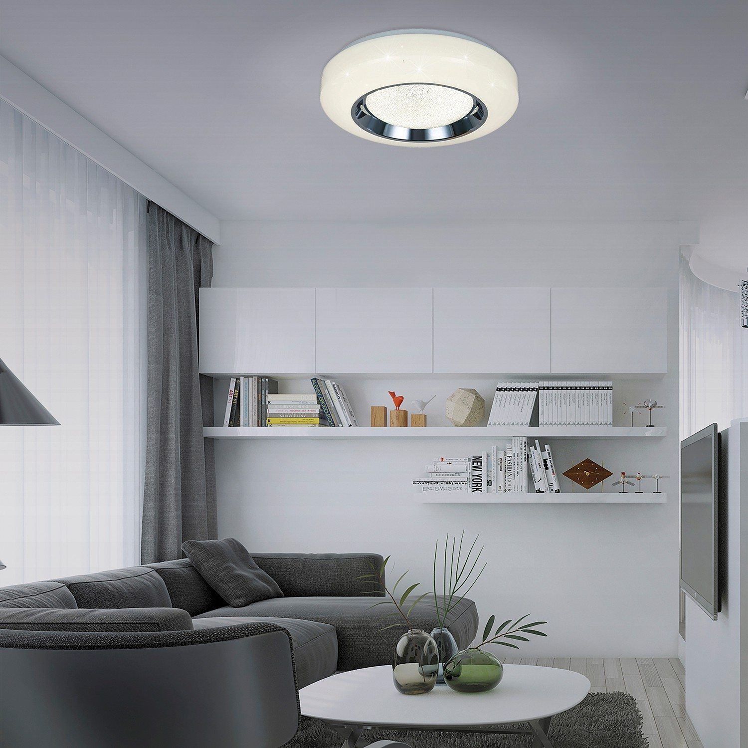 home24 LED-Deckenleuchte Newcastle