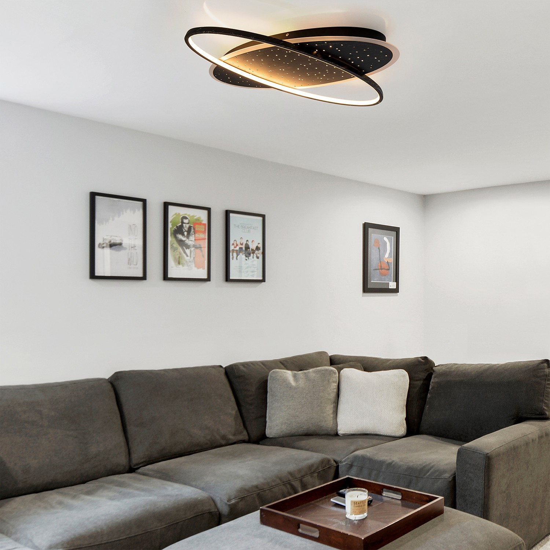 home24 LED-Deckenleuchte Vernay
