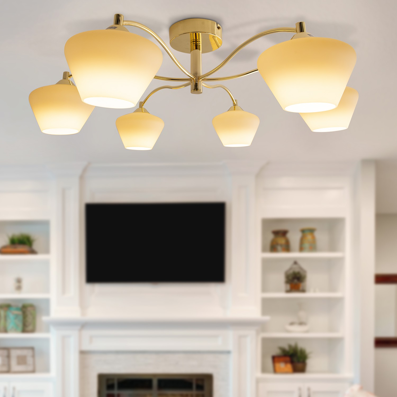 home24 LED-Deckenleuchte Richwoods