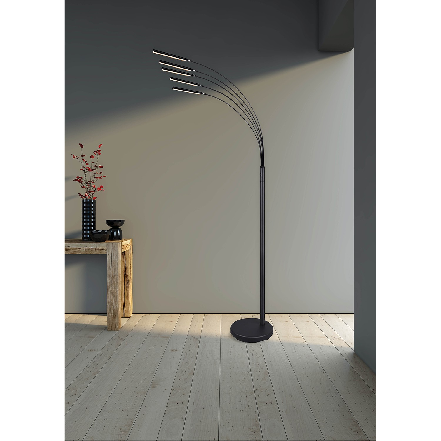 home24 LED-Stehleuchte Reed