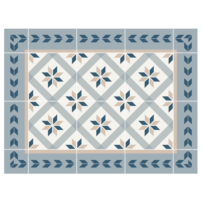 Home24 Tafelset Tegels II (set van 4), Contento