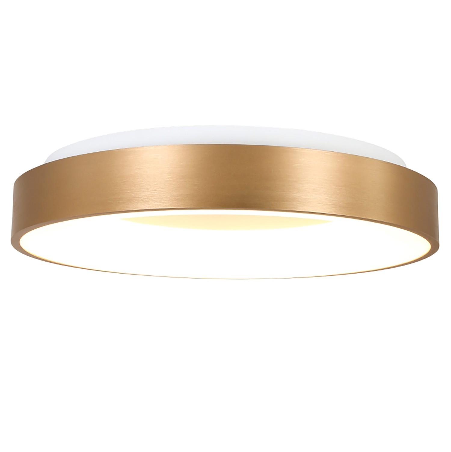 home24 LED-Deckenleuchte Ringlede