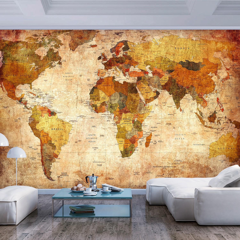 Papier peint en intissé Planisphère