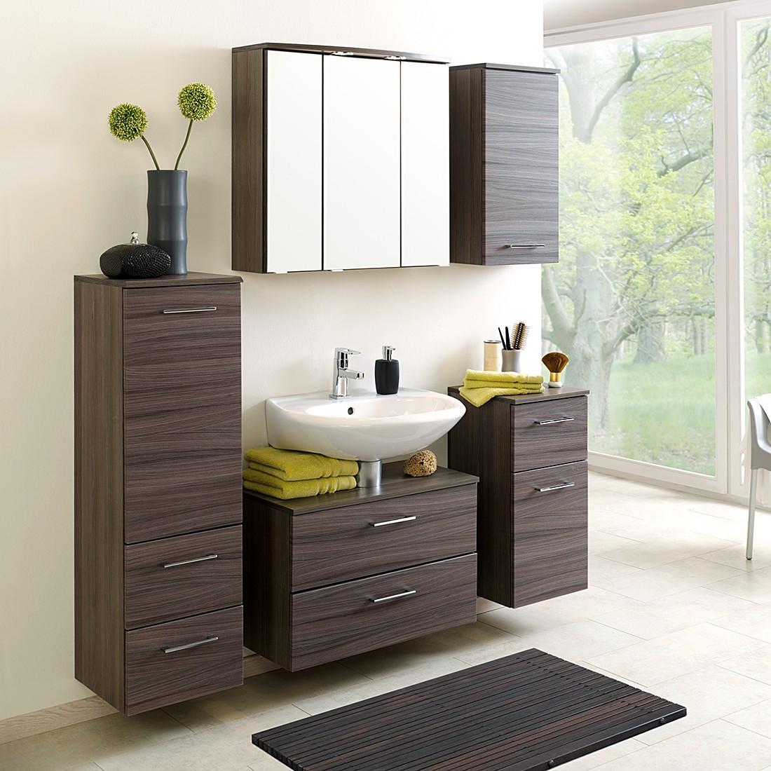 2 pezzi Set da bagno UB-Set Well-ness - Effetto quercia scura, Giessbach