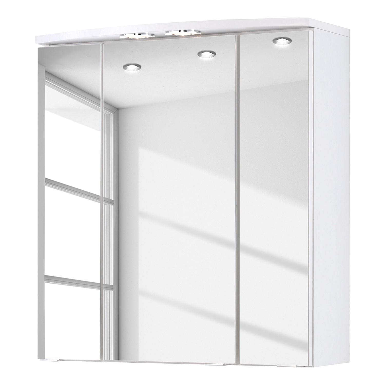 Armoire de salle de bain Kopenhagen - Avec éclairage -Blanc, Giessbach