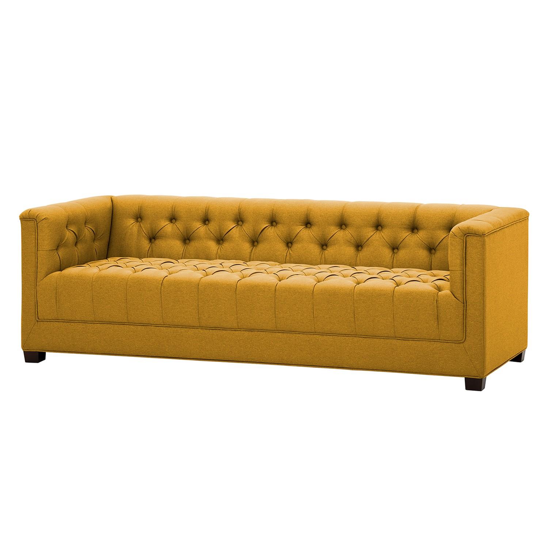 Sofa Grand (3-Sitzer) Webstoff - Stoff Selva Senfgelb