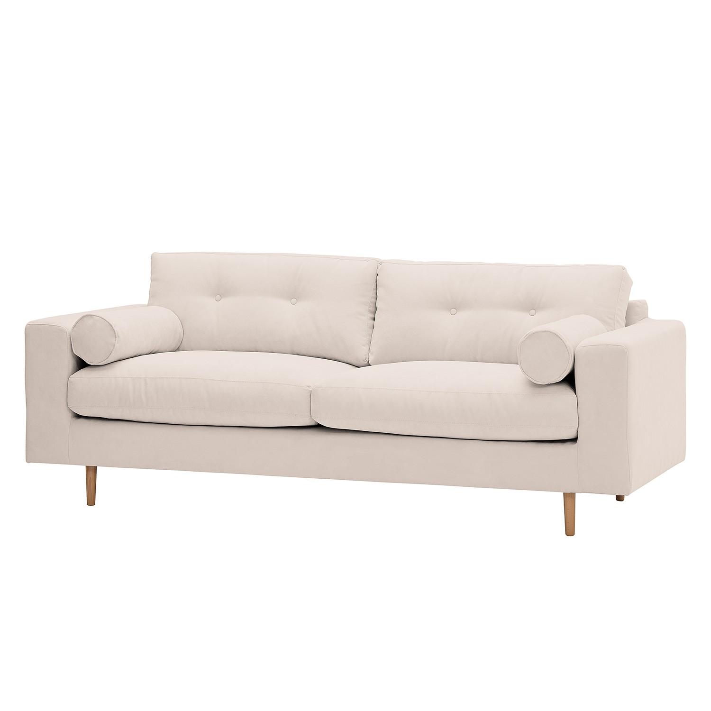 Sofa Marlon (3-Sitzer) Webstoff - Stoff Mera Hellbeige