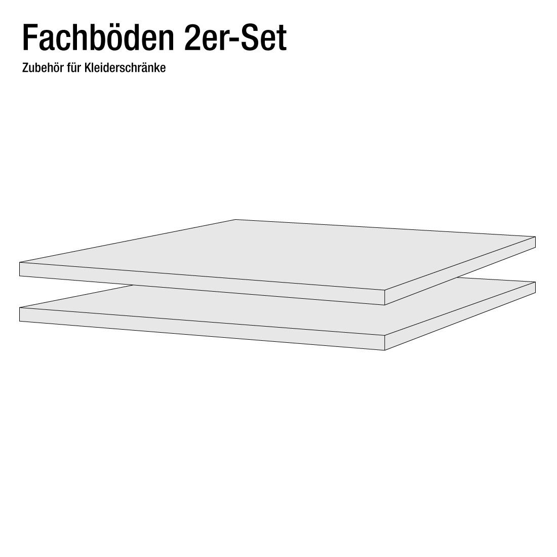 50er Fachboden (2er-Set), fresh to go