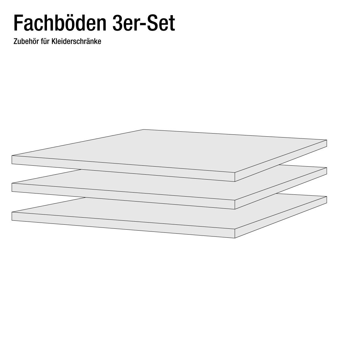 Home24 50 cm planken (3-delige set), fresh to go