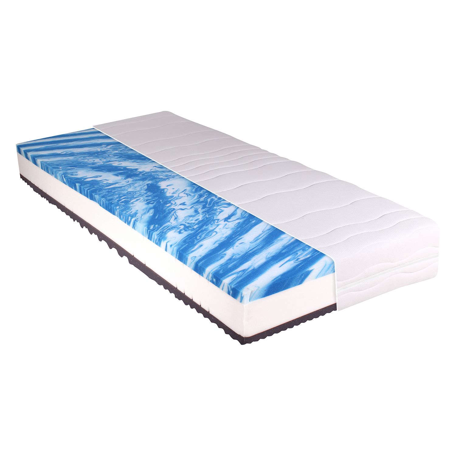 Matelas en mousse gel confort 7 zones