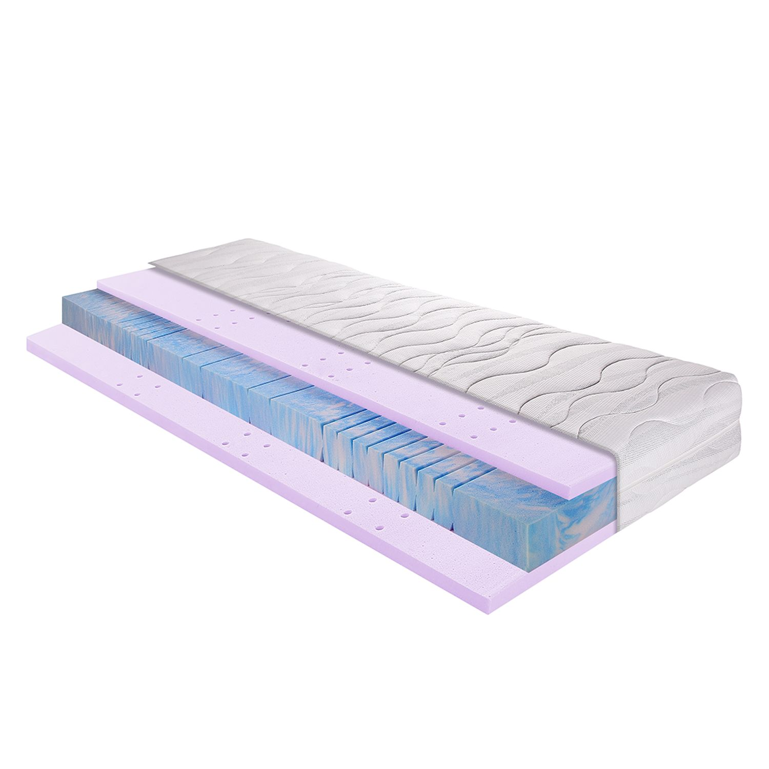 Materasso in schiuma e gel Sleep gel 3, Breckle
