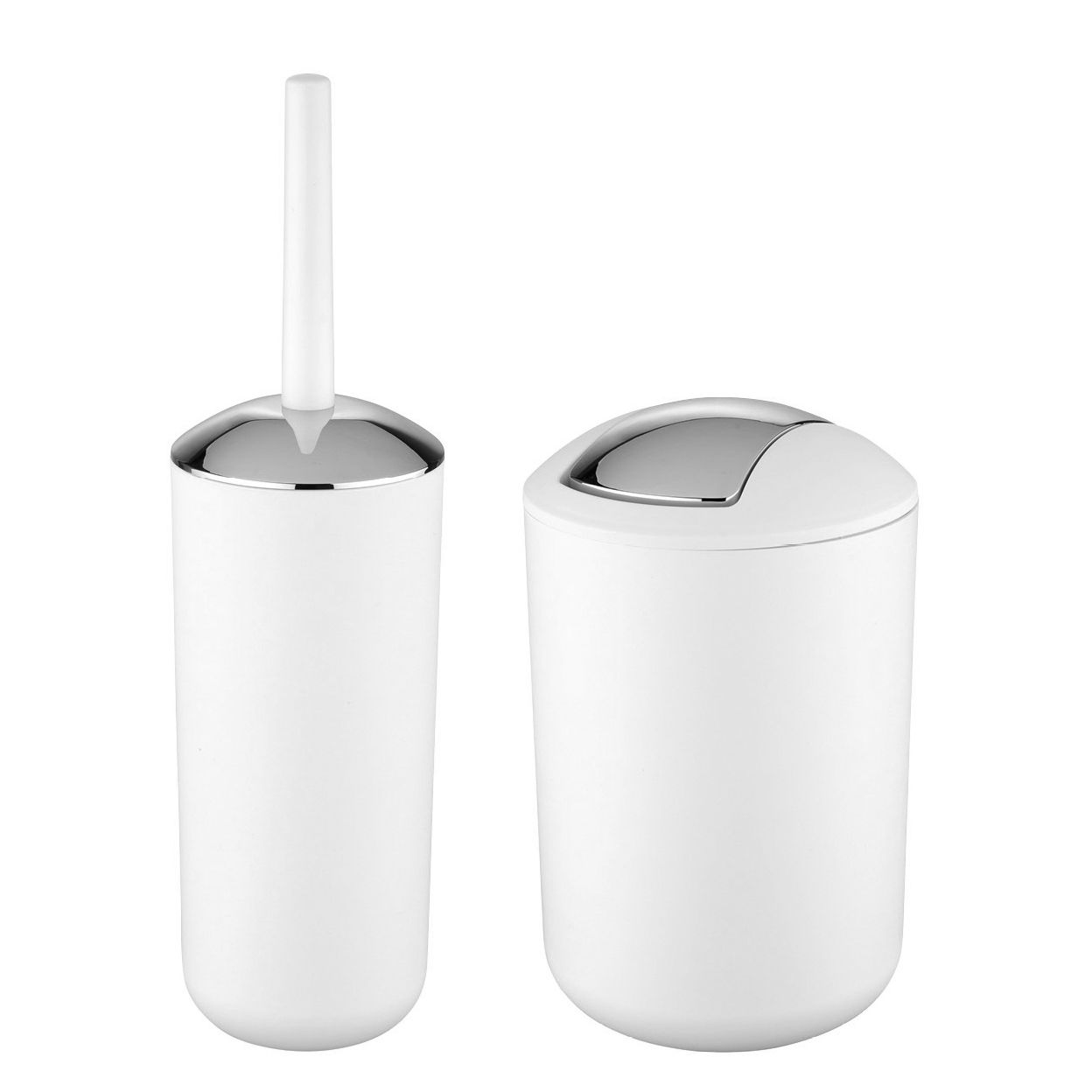 Accessoires-Set Brasil (2-teilig) - Kunststoff - Weiß / Silber, Wenko