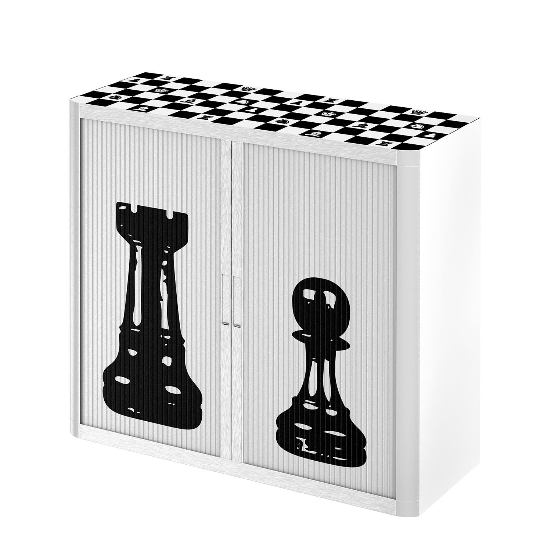 Aktenschrank easyOffice Noire et Blanc V