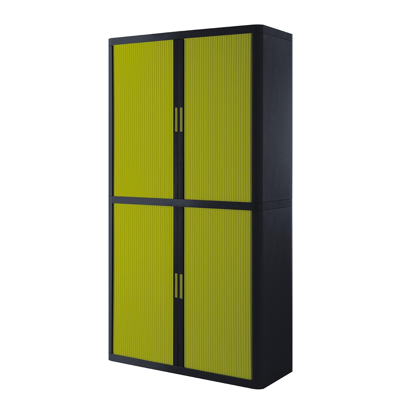 Armoire à dossiers easyOffice - Noir / Vert - 204 cm, easy Office und Paperflow